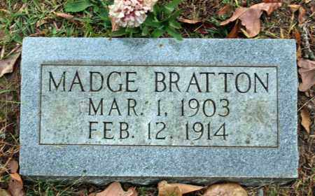 BRATTON, MADGE - Searcy County, Arkansas | MADGE BRATTON - Arkansas Gravestone Photos