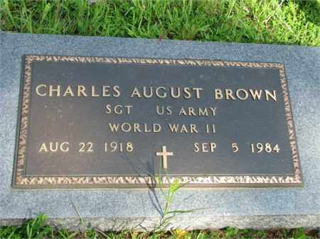 BROWN (VETERAN WWII), CHARLES AUGUST - Searcy County, Arkansas | CHARLES AUGUST BROWN (VETERAN WWII) - Arkansas Gravestone Photos