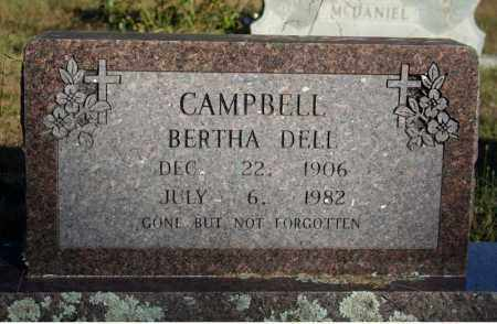 CAMPBELL, BERTHA DELL - Searcy County, Arkansas | BERTHA DELL CAMPBELL - Arkansas Gravestone Photos