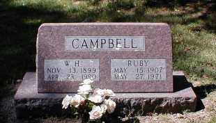 CAMPBELL, W. H. - Searcy County, Arkansas | W. H. CAMPBELL - Arkansas Gravestone Photos