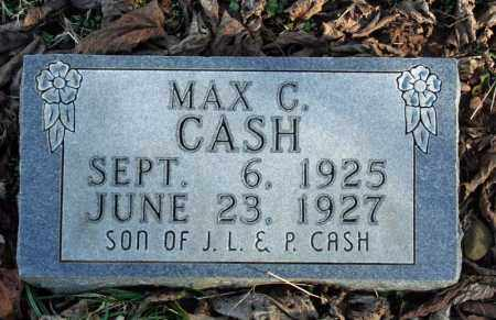 CASH, MAX C. - Searcy County, Arkansas | MAX C. CASH - Arkansas Gravestone Photos