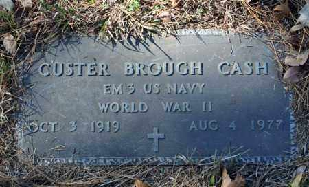 CASH (VETERAN WWII), CUSTER BROUGH - Searcy County, Arkansas | CUSTER BROUGH CASH (VETERAN WWII) - Arkansas Gravestone Photos