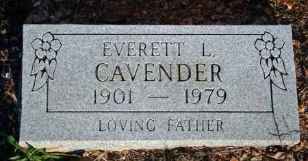 CAVENDER, EVERETT LEE - Searcy County, Arkansas | EVERETT LEE CAVENDER - Arkansas Gravestone Photos