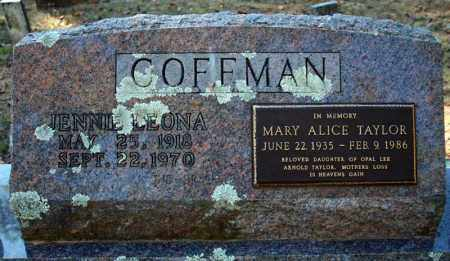 COFFMAN, MARY ALICE - Searcy County, Arkansas | MARY ALICE COFFMAN - Arkansas Gravestone Photos