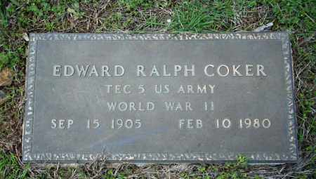 COKER (VETERAN WWII), EDWARD RALPH - Searcy County, Arkansas | EDWARD RALPH COKER (VETERAN WWII) - Arkansas Gravestone Photos