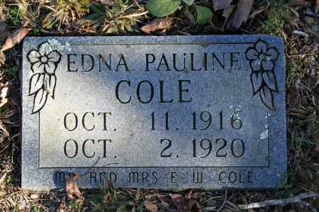 COLE, EDNA PAULINE - Searcy County, Arkansas | EDNA PAULINE COLE - Arkansas Gravestone Photos