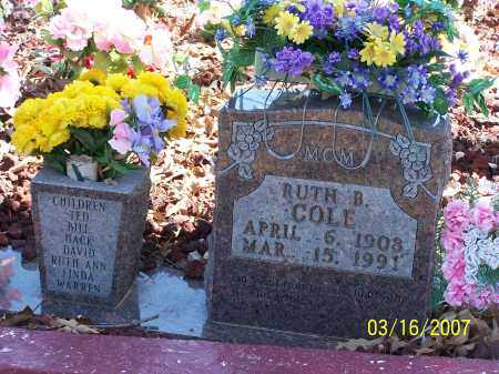 DANIEL COLE, RUTH BERNICE - Searcy County, Arkansas | RUTH BERNICE DANIEL COLE - Arkansas Gravestone Photos