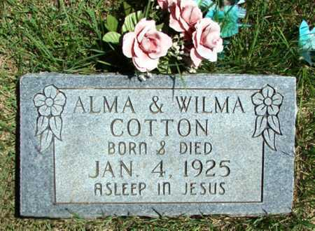 COTTON, ALMA - Searcy County, Arkansas | ALMA COTTON - Arkansas Gravestone Photos