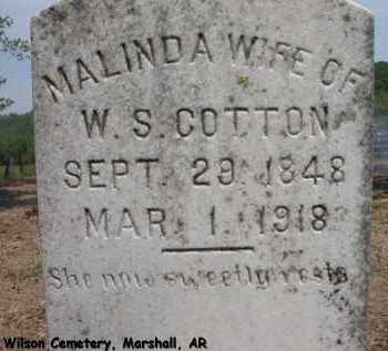 COTTON, MALINDA - Searcy County, Arkansas | MALINDA COTTON - Arkansas Gravestone Photos
