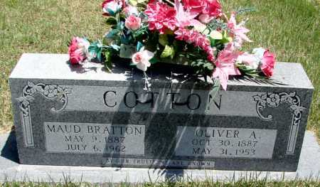 BRATTON COTTON, MAUD - Searcy County, Arkansas | MAUD BRATTON COTTON - Arkansas Gravestone Photos