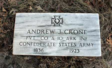 CRONE (VETERAN CSA), ANDREW  J - Searcy County, Arkansas | ANDREW  J CRONE (VETERAN CSA) - Arkansas Gravestone Photos