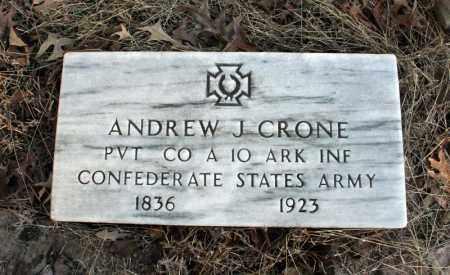 CRONE (VETERAN CSA), ANDREW  J - Searcy County, Arkansas   ANDREW  J CRONE (VETERAN CSA) - Arkansas Gravestone Photos