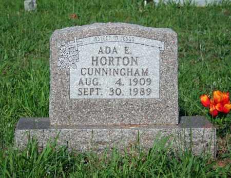HORTON CUNNINGHAM, ADA E. - Searcy County, Arkansas | ADA E. HORTON CUNNINGHAM - Arkansas Gravestone Photos