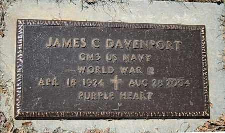 DAVENPORT (VETERAN WWII), JAMES C - Searcy County, Arkansas | JAMES C DAVENPORT (VETERAN WWII) - Arkansas Gravestone Photos