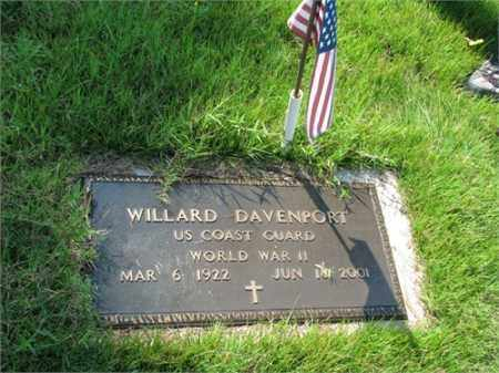 DAVENPORT (VETERAN WWII), WILLARD - Searcy County, Arkansas | WILLARD DAVENPORT (VETERAN WWII) - Arkansas Gravestone Photos