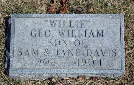 "DAVIS, GEORGE WILLIAM ""WILLIE"" - Searcy County, Arkansas 