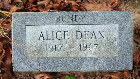 BUNDY DEAN, ALICE - Searcy County, Arkansas | ALICE BUNDY DEAN - Arkansas Gravestone Photos