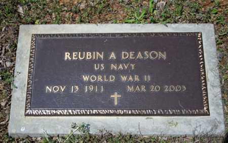 DEASON (VETERAN WWII), REUBIN A. - Searcy County, Arkansas | REUBIN A. DEASON (VETERAN WWII) - Arkansas Gravestone Photos