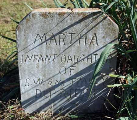 DEPRIEST, MARTHA - Searcy County, Arkansas | MARTHA DEPRIEST - Arkansas Gravestone Photos