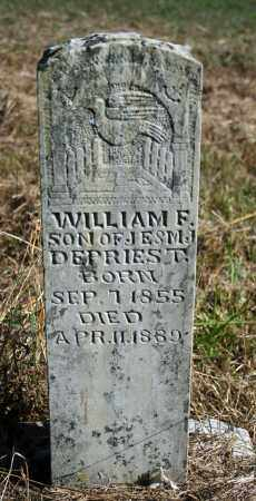 DEPRIEST, WILLIAM F. - Searcy County, Arkansas | WILLIAM F. DEPRIEST - Arkansas Gravestone Photos
