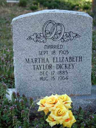 TAYLOR DICKEY, MARTHA ELIZABETH - Searcy County, Arkansas | MARTHA ELIZABETH TAYLOR DICKEY - Arkansas Gravestone Photos