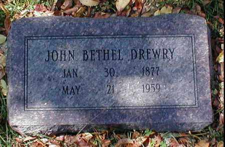DREWRY, JOHN BETHEL - Searcy County, Arkansas | JOHN BETHEL DREWRY - Arkansas Gravestone Photos