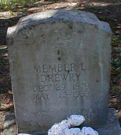 DREWRY, MEMBER L. - Searcy County, Arkansas | MEMBER L. DREWRY - Arkansas Gravestone Photos