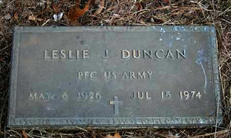 DUNCAN (VETERAN), LESLIE J. - Searcy County, Arkansas | LESLIE J. DUNCAN (VETERAN) - Arkansas Gravestone Photos
