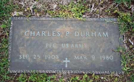 DURHAM (VETERAN), CHARLES P - Searcy County, Arkansas | CHARLES P DURHAM (VETERAN) - Arkansas Gravestone Photos