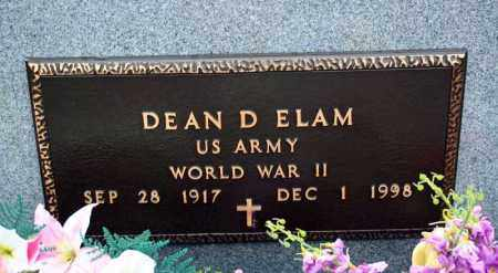 ELAM (VETERAN WWII), DEAN D - Searcy County, Arkansas | DEAN D ELAM (VETERAN WWII) - Arkansas Gravestone Photos
