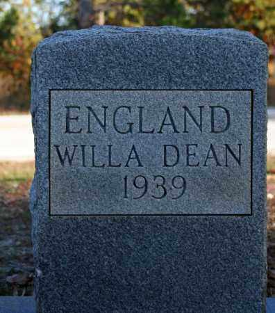 ENGLAND, WILLA DEAN - Searcy County, Arkansas | WILLA DEAN ENGLAND - Arkansas Gravestone Photos