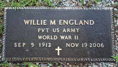 ENGLAND  (VETERAN WWII), WILLIE MILES - Searcy County, Arkansas | WILLIE MILES ENGLAND  (VETERAN WWII) - Arkansas Gravestone Photos