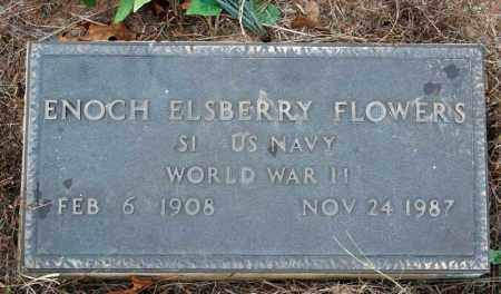 FLOWERS (VETERAN WWII), ENOCH ELSBERRY - Searcy County, Arkansas | ENOCH ELSBERRY FLOWERS (VETERAN WWII) - Arkansas Gravestone Photos