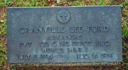FORD  (VETERAN WWI), GRANVILLE LEE - Searcy County, Arkansas | GRANVILLE LEE FORD  (VETERAN WWI) - Arkansas Gravestone Photos