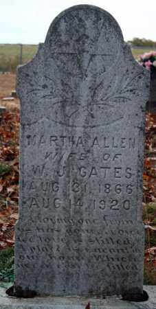 ALLEN GATES, MARTHA - Searcy County, Arkansas | MARTHA ALLEN GATES - Arkansas Gravestone Photos