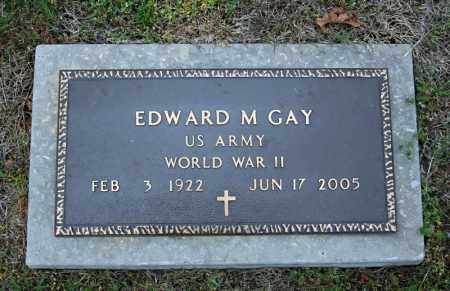 GAY (VETERAN WWII), EDWARD M - Searcy County, Arkansas | EDWARD M GAY (VETERAN WWII) - Arkansas Gravestone Photos