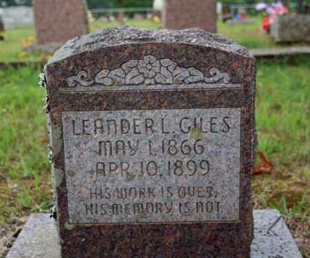 GILES, LEANDER L. - Searcy County, Arkansas | LEANDER L. GILES - Arkansas Gravestone Photos