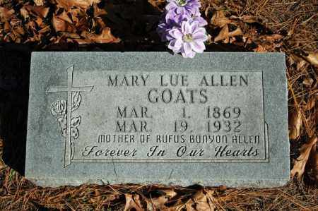 ALLEN GOATS, MARY LUE - Searcy County, Arkansas | MARY LUE ALLEN GOATS - Arkansas Gravestone Photos