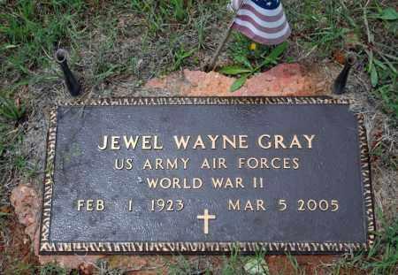 GRAY (VETERAN WWII), JEWEL WAYNE - Searcy County, Arkansas | JEWEL WAYNE GRAY (VETERAN WWII) - Arkansas Gravestone Photos