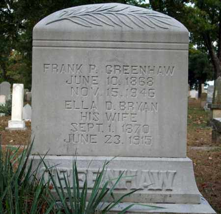 BRYAN GREENHAW, ELLA D. - Searcy County, Arkansas | ELLA D. BRYAN GREENHAW - Arkansas Gravestone Photos