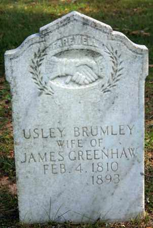 BRUMLEY GREENHAW, USLEY - Searcy County, Arkansas | USLEY BRUMLEY GREENHAW - Arkansas Gravestone Photos