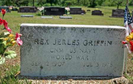 GRIFFIN (VETERAN WWII), REX JERLES - Searcy County, Arkansas | REX JERLES GRIFFIN (VETERAN WWII) - Arkansas Gravestone Photos