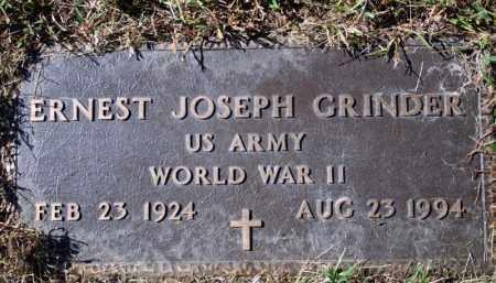 GRINDER (VETERAN WWII), ERNEST JOSEPH - Searcy County, Arkansas | ERNEST JOSEPH GRINDER (VETERAN WWII) - Arkansas Gravestone Photos
