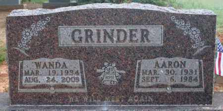 GRINDER, AARON - Searcy County, Arkansas | AARON GRINDER - Arkansas Gravestone Photos