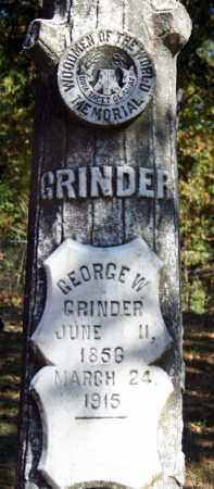 GRINDER, GEORGE W. - Searcy County, Arkansas | GEORGE W. GRINDER - Arkansas Gravestone Photos
