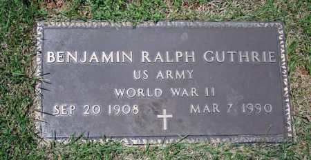 GUTHRIE (VETERAN WWII), BENJAMIN RALPH - Searcy County, Arkansas | BENJAMIN RALPH GUTHRIE (VETERAN WWII) - Arkansas Gravestone Photos