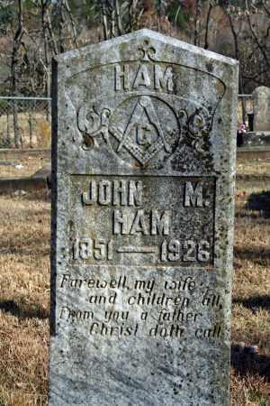 HAM, JOHN M. - Searcy County, Arkansas | JOHN M. HAM - Arkansas Gravestone Photos