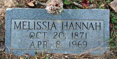 HANNAH, MELISSIA - Searcy County, Arkansas | MELISSIA HANNAH - Arkansas Gravestone Photos