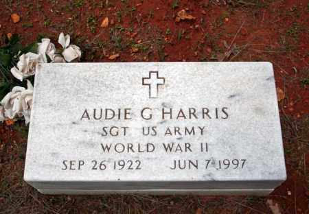 HARRIS (VETERAN WWII), AUDIE G - Searcy County, Arkansas | AUDIE G HARRIS (VETERAN WWII) - Arkansas Gravestone Photos