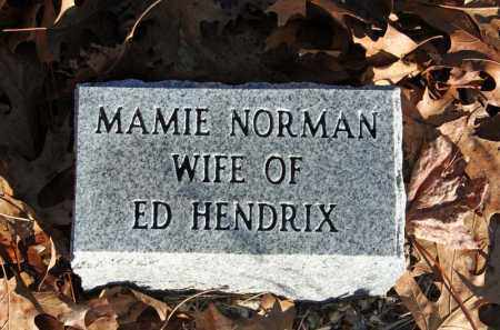 NORMAN HENDRIX, MAMIE - Searcy County, Arkansas | MAMIE NORMAN HENDRIX - Arkansas Gravestone Photos